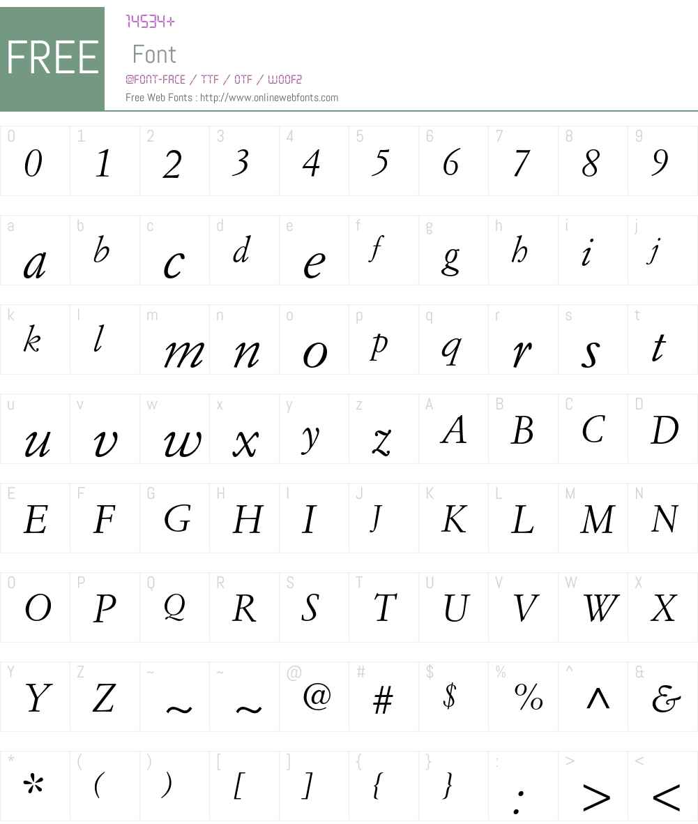 Simoncini Garamond Font Screenshots
