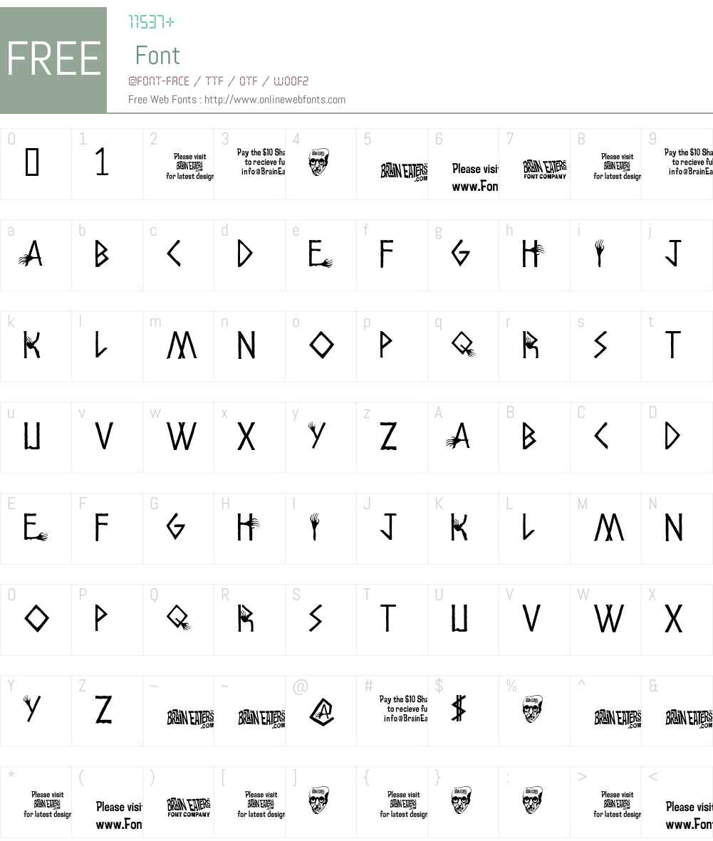 Amhole Font Screenshots