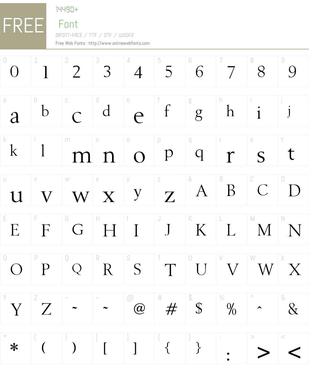 OPTIBerling Font Screenshots