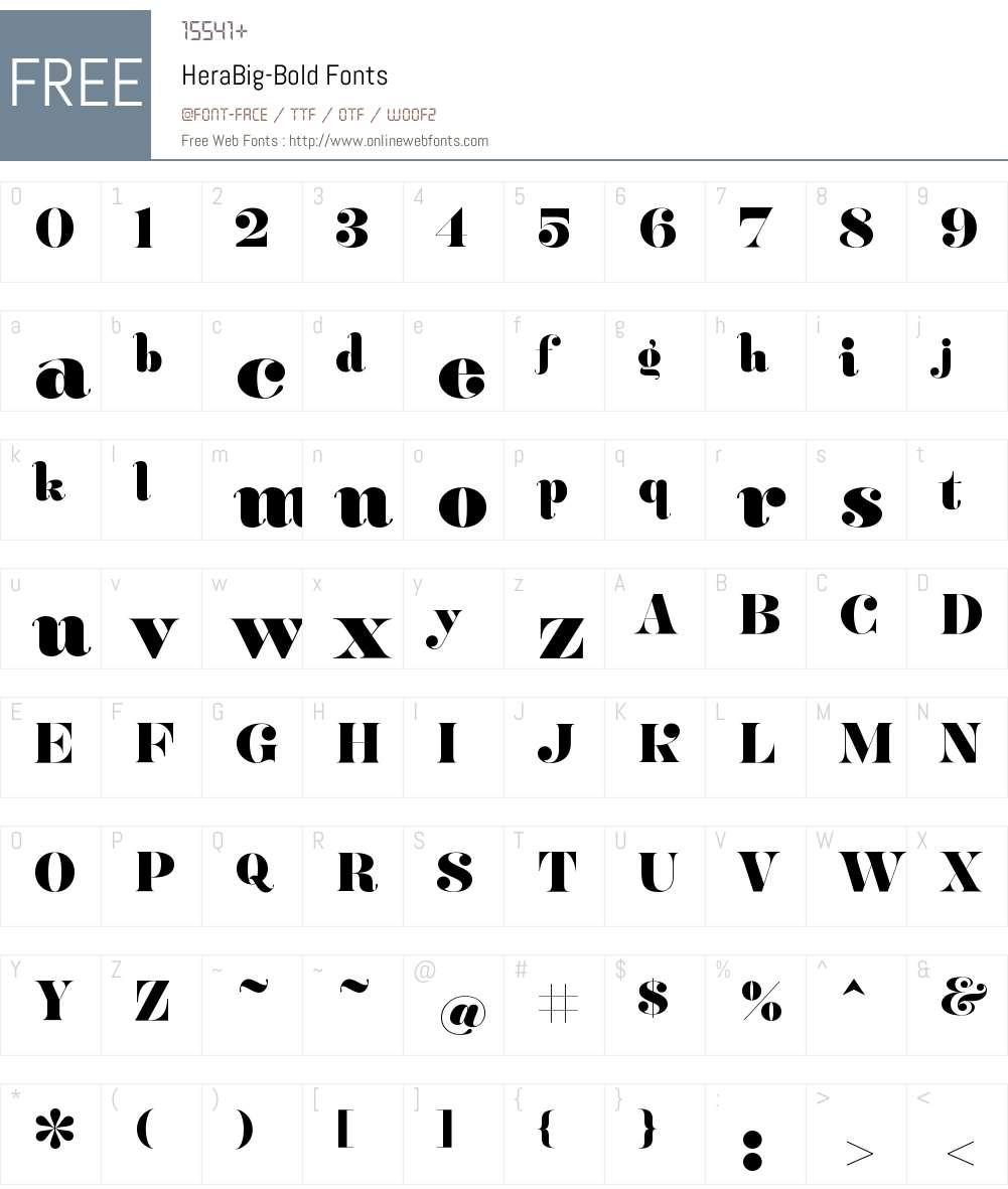 Hera Big Bold Font Screenshots