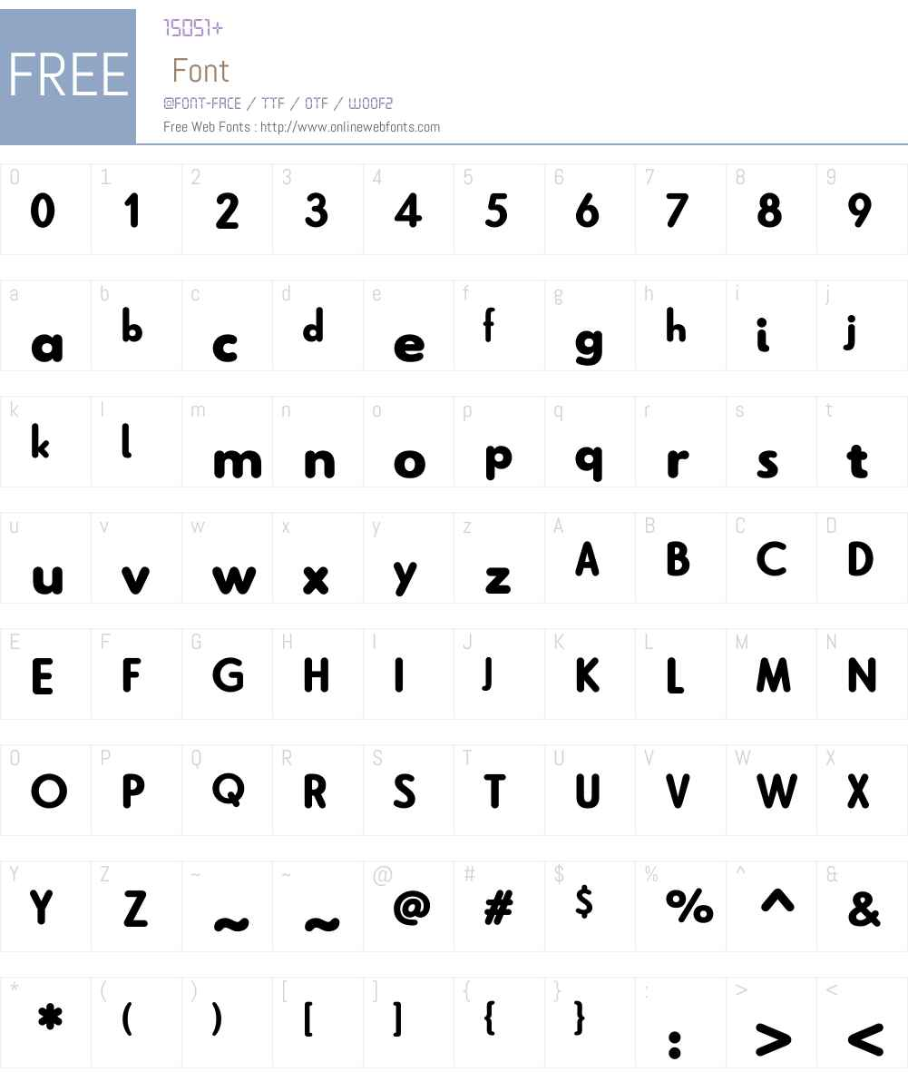 Le Havre Rounded Black Font Screenshots