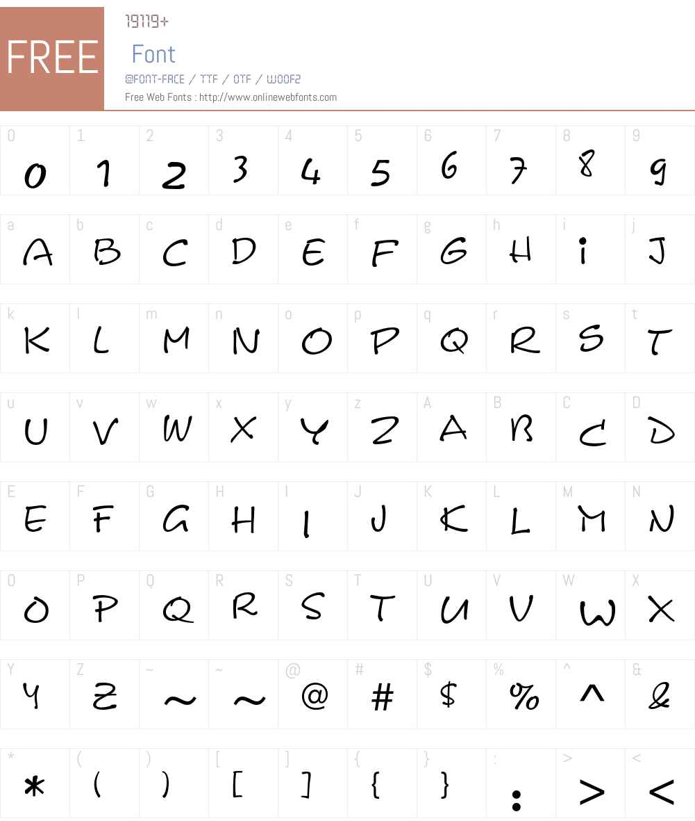 LeAsterixEF Font Screenshots