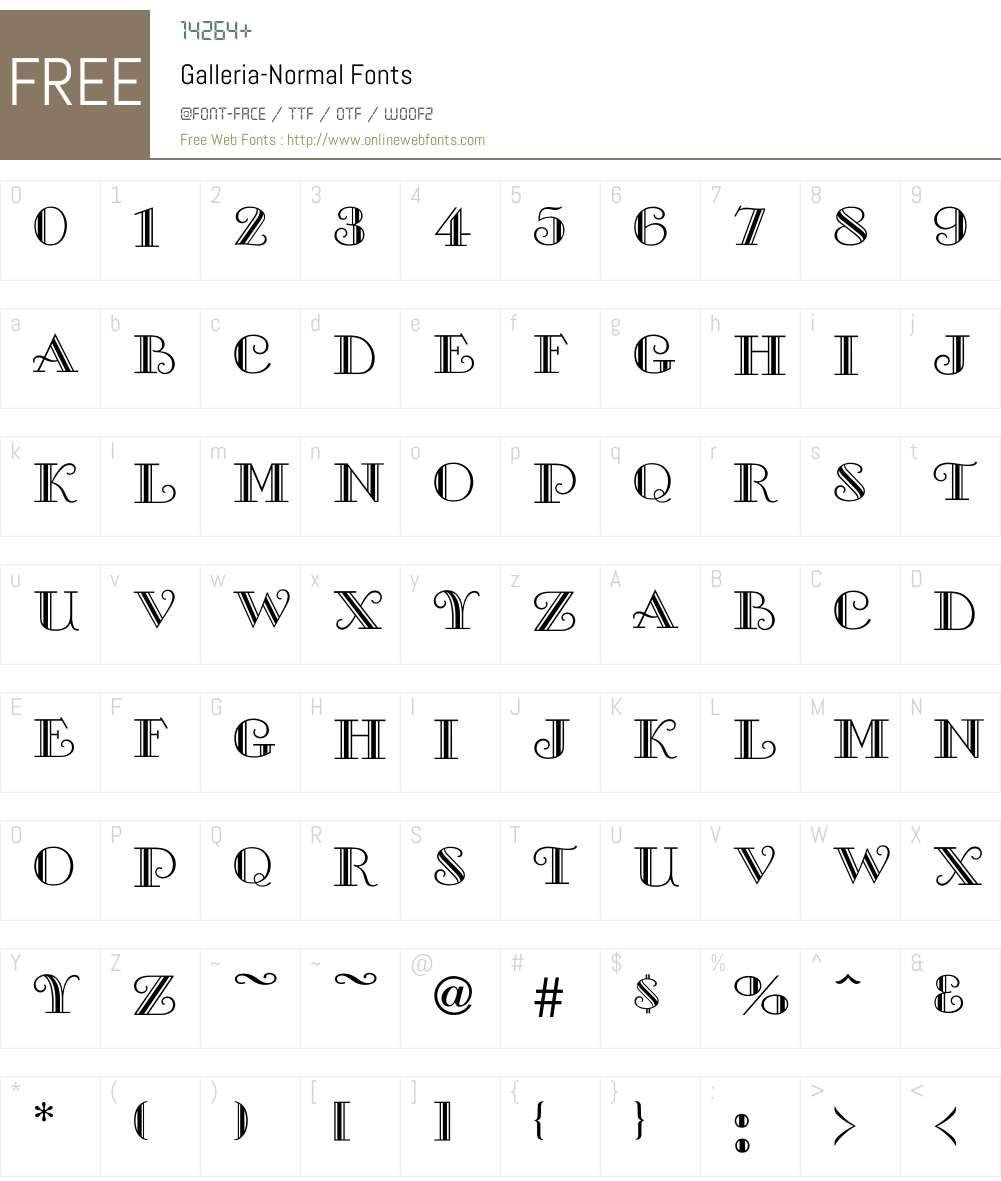 Galleria-Normal Font Screenshots