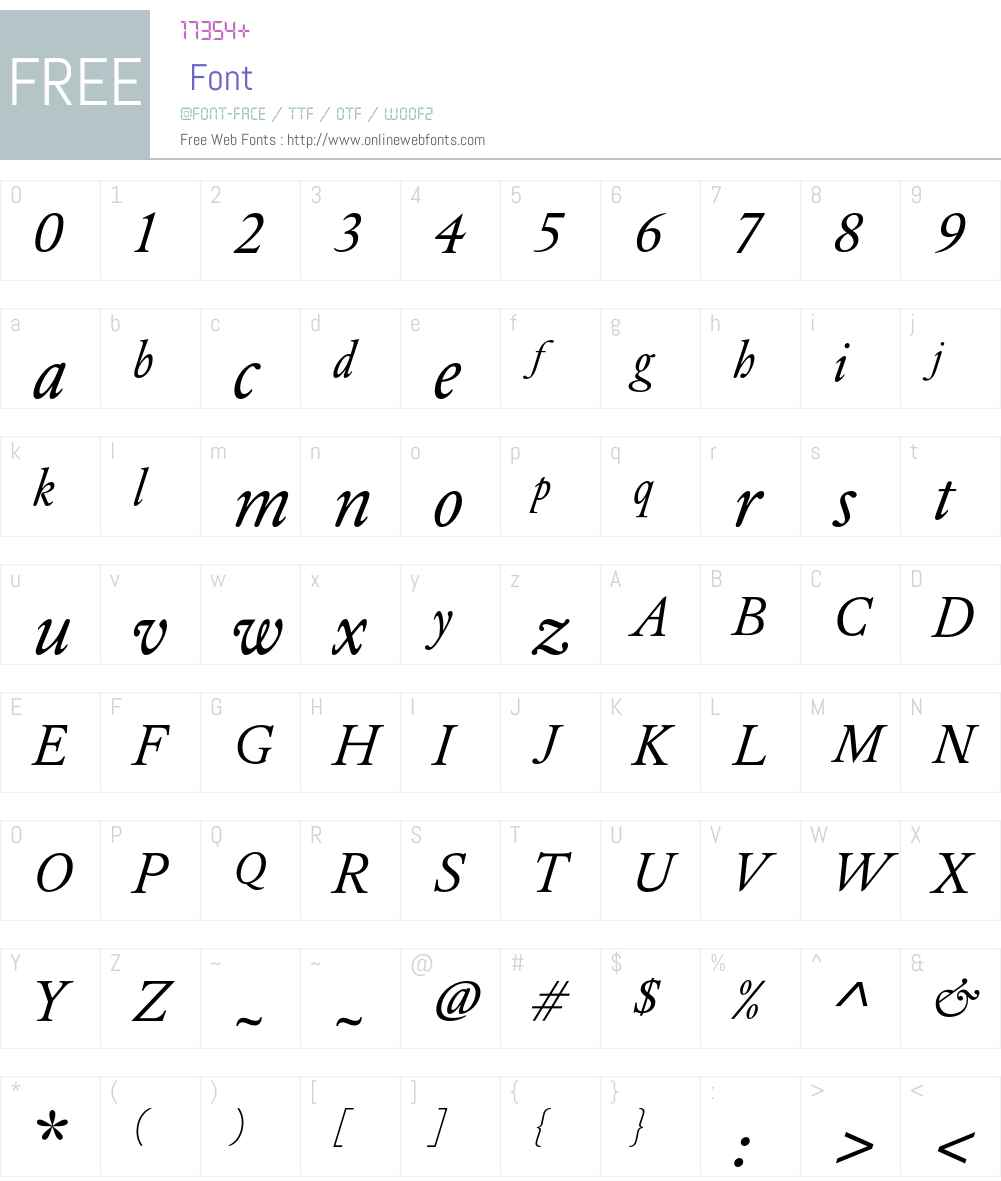 DTLElzevirT Font Screenshots