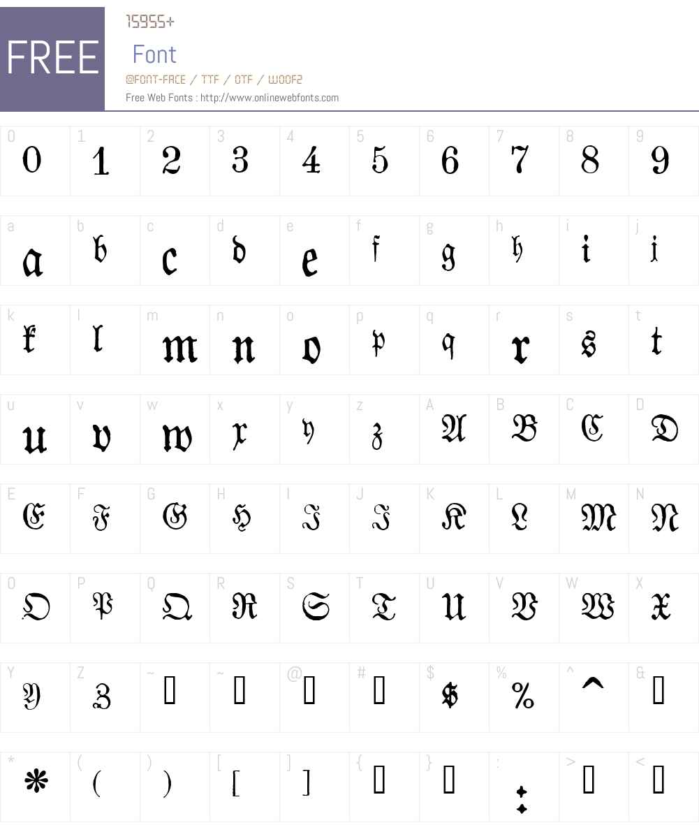 1883 Fraktur Font Screenshots