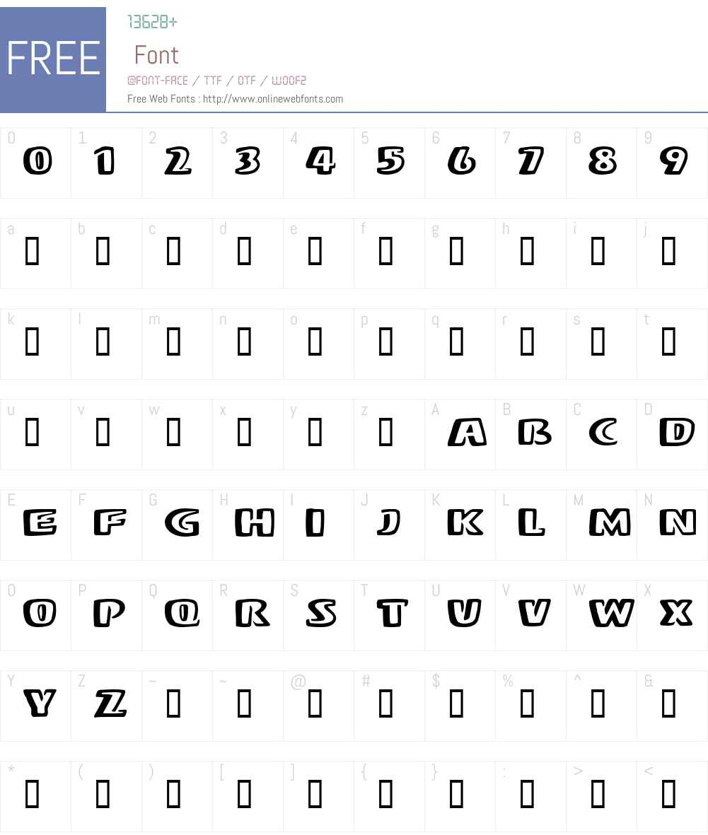 Baum Font Screenshots