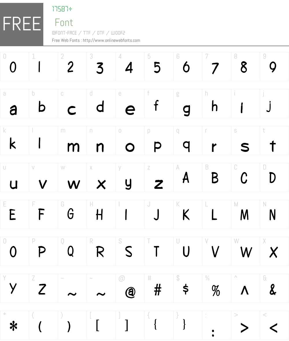CopybookCondensed Font Screenshots