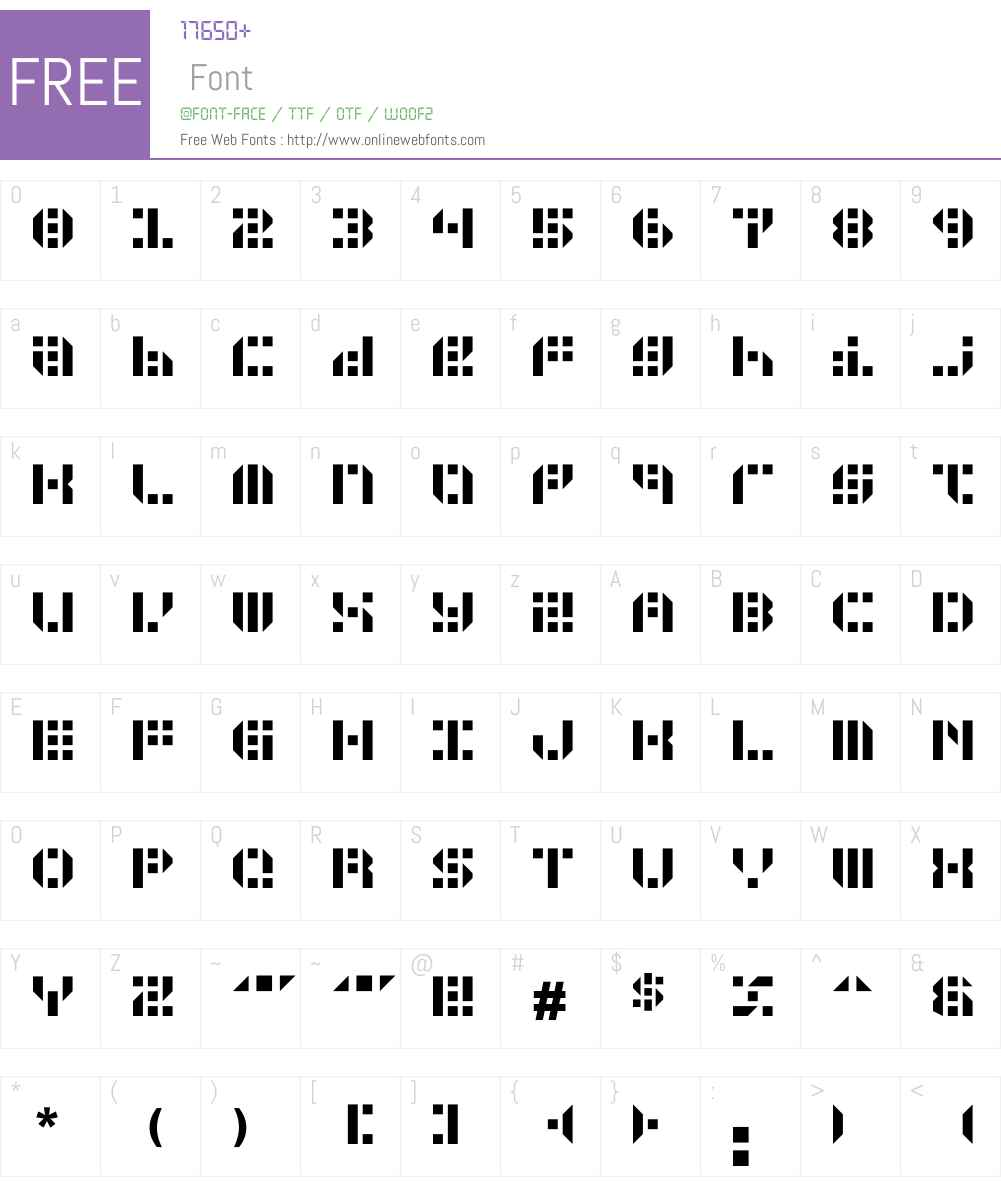GUNJU Font Screenshots