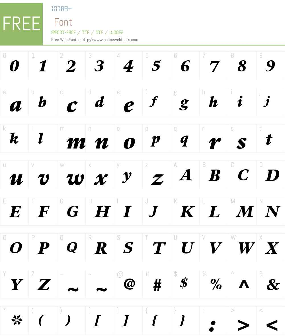 Guardi LT Std Font Screenshots