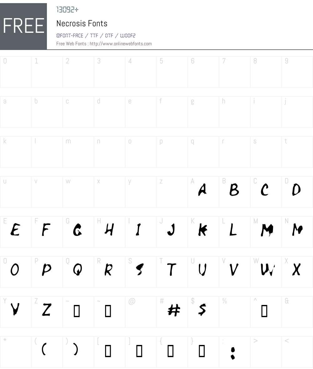 Necrosis Font Screenshots