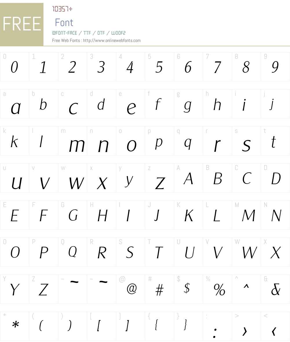 Cleargothic-XlightIta Font Screenshots