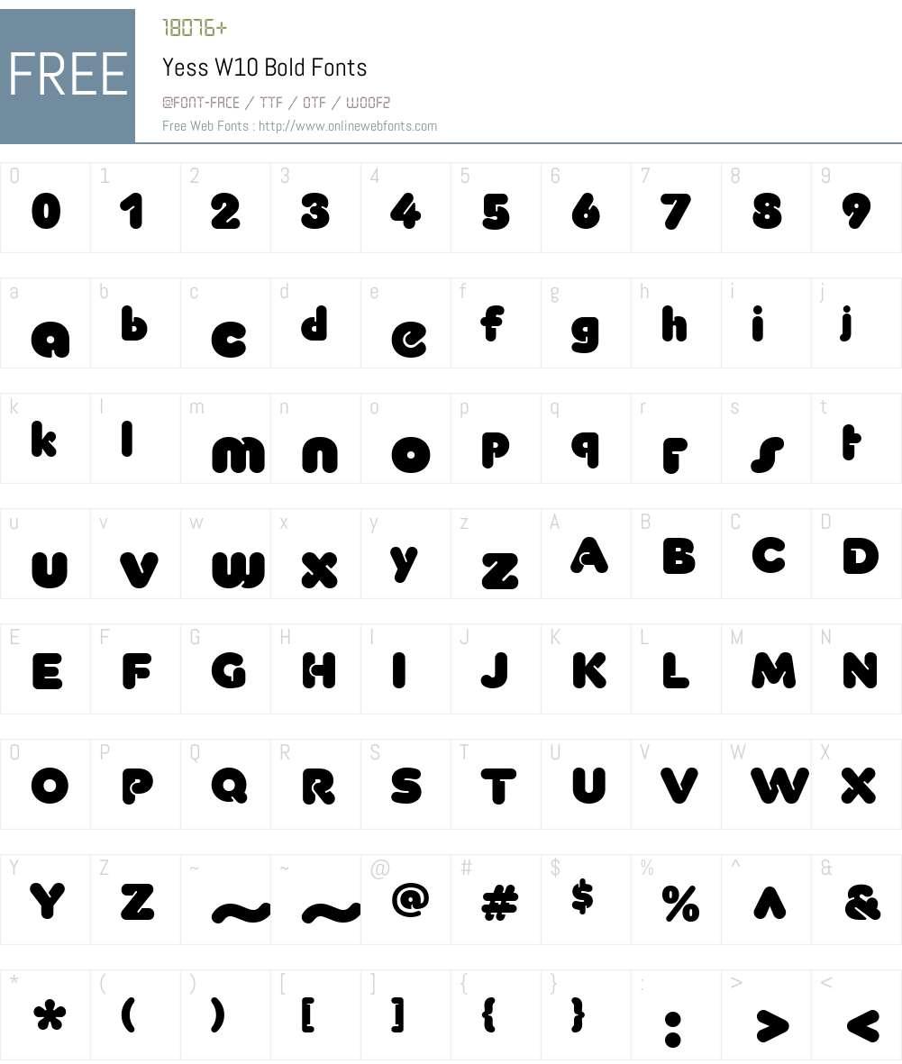Yess Font Screenshots
