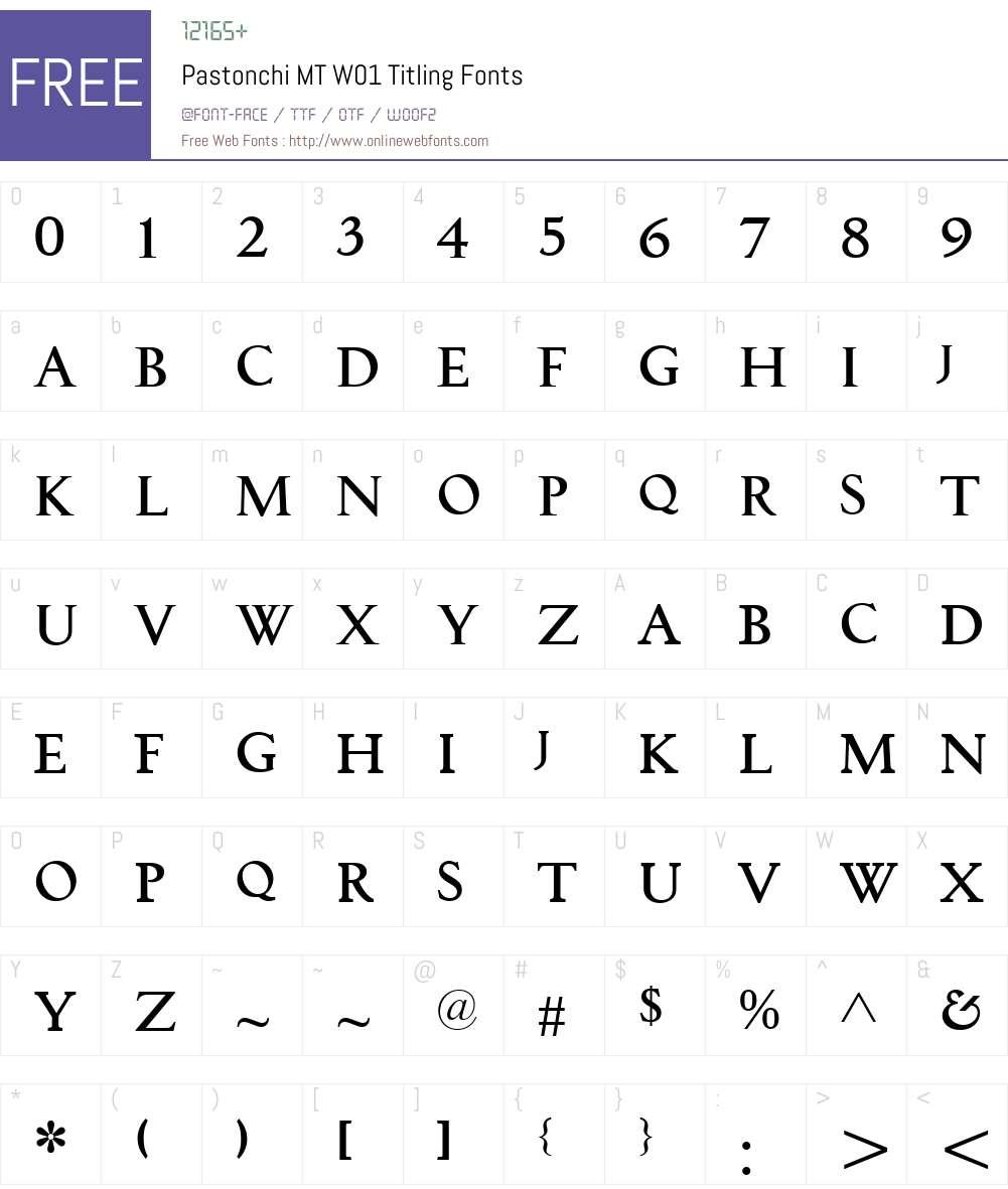 PastonchiMTW01-Titling Font Screenshots