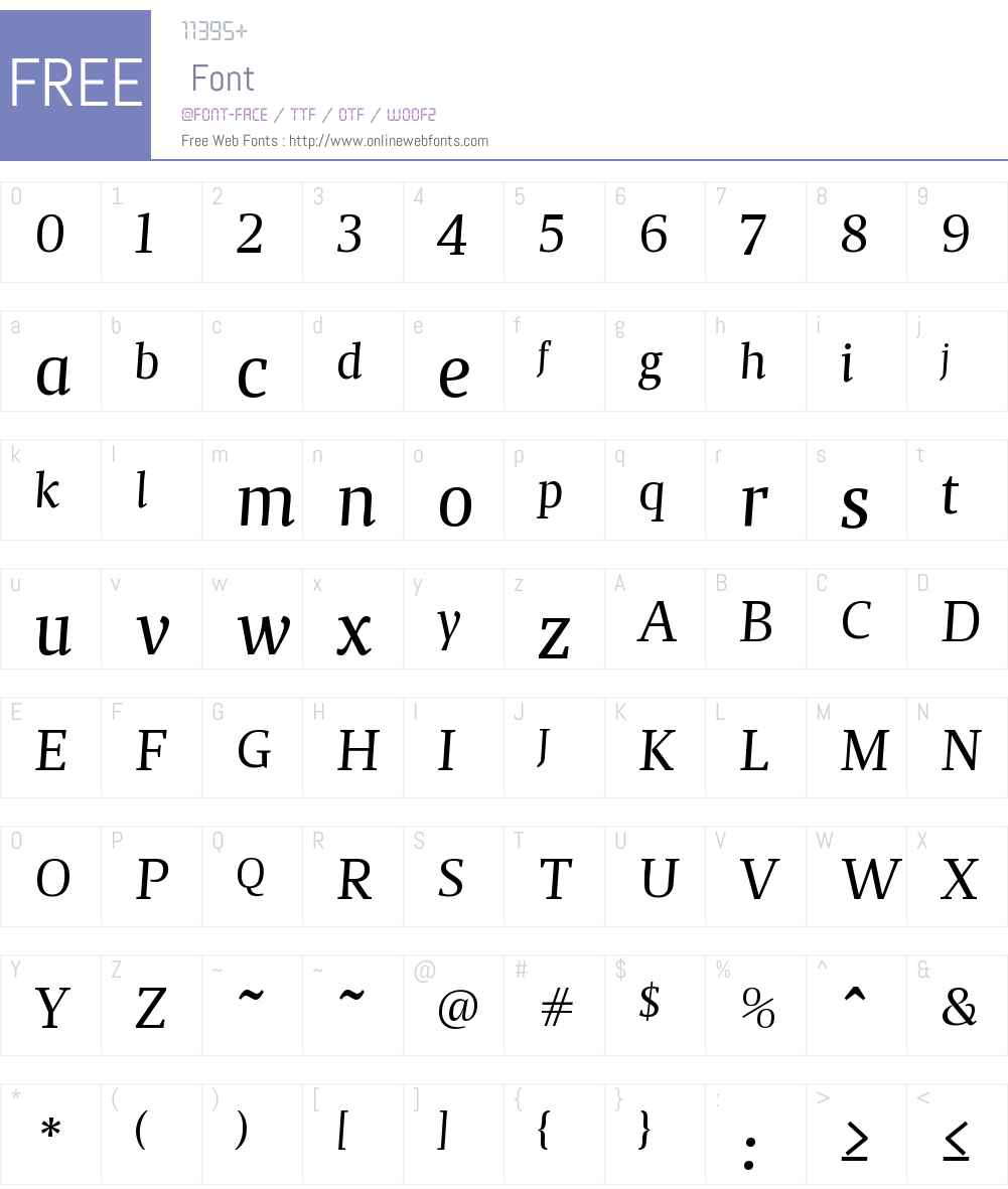 MagaW01-BookItalic Font Screenshots
