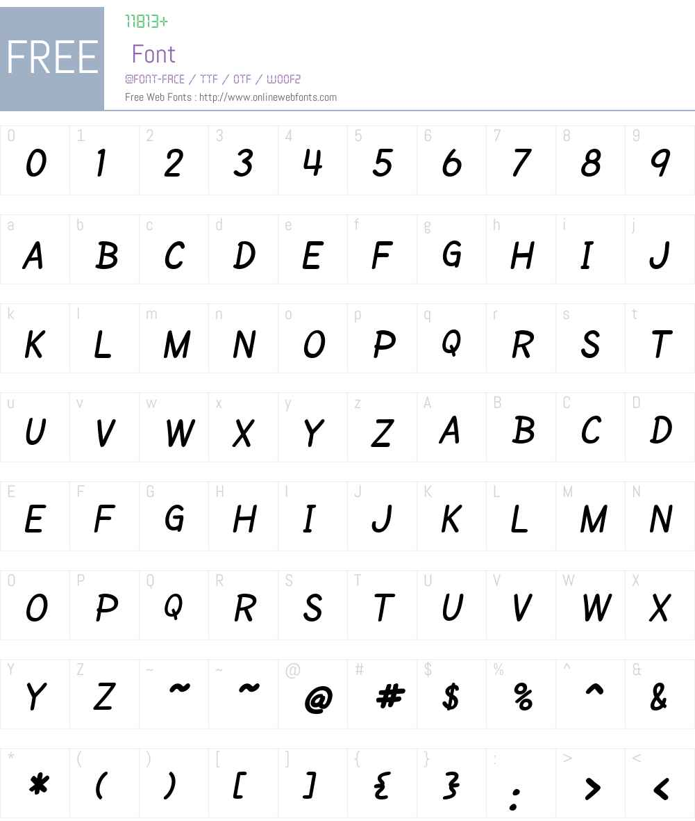 SF Cartoonist Hand SC Font Screenshots