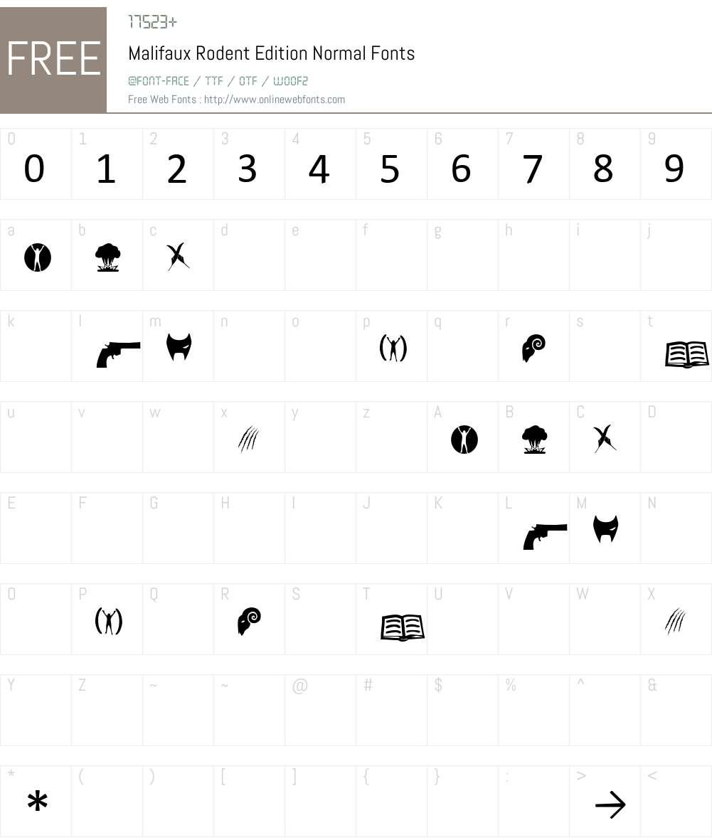 Malifaux Rodent Edition Font Screenshots