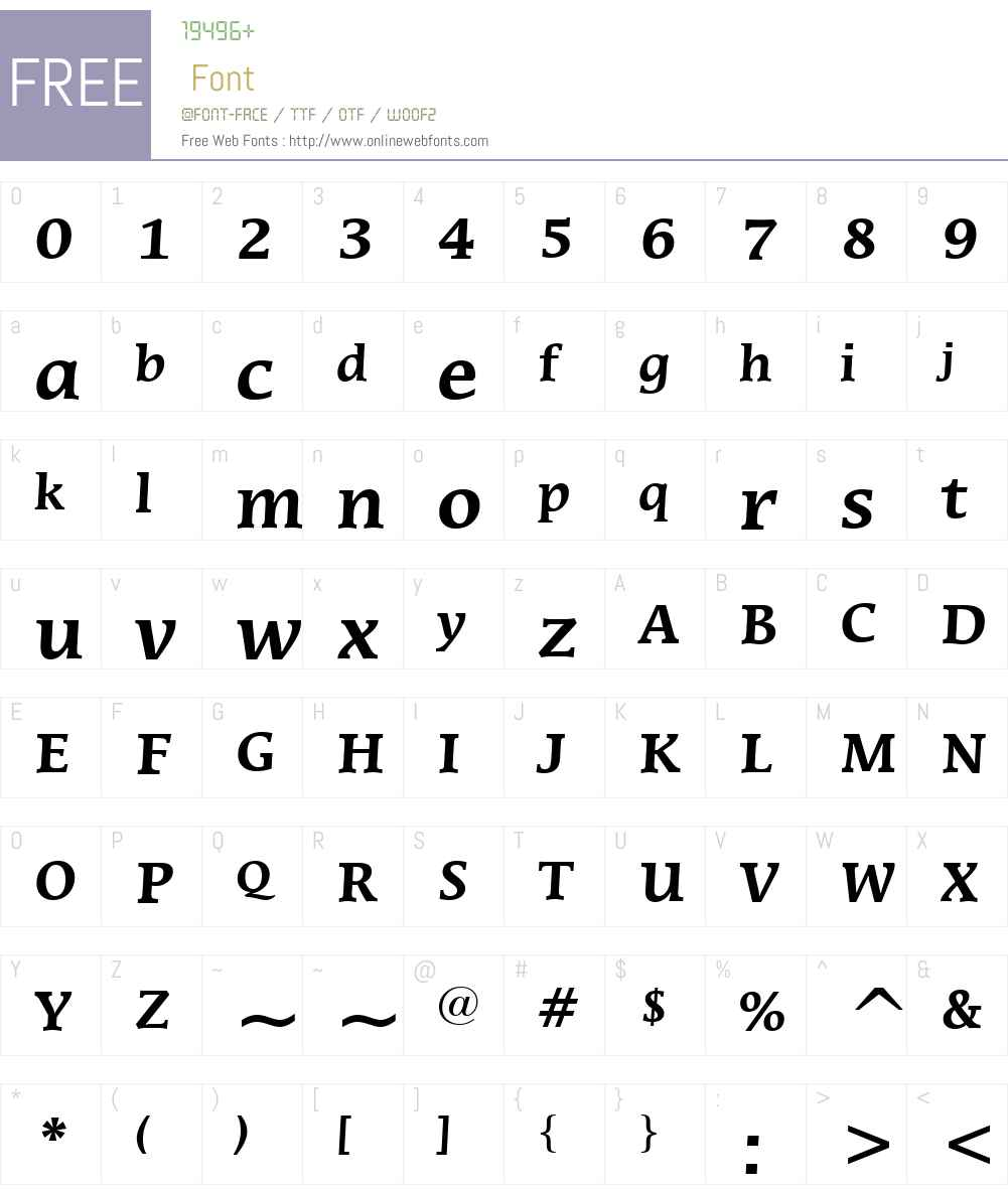 MiraraeW01-Bold Font Screenshots