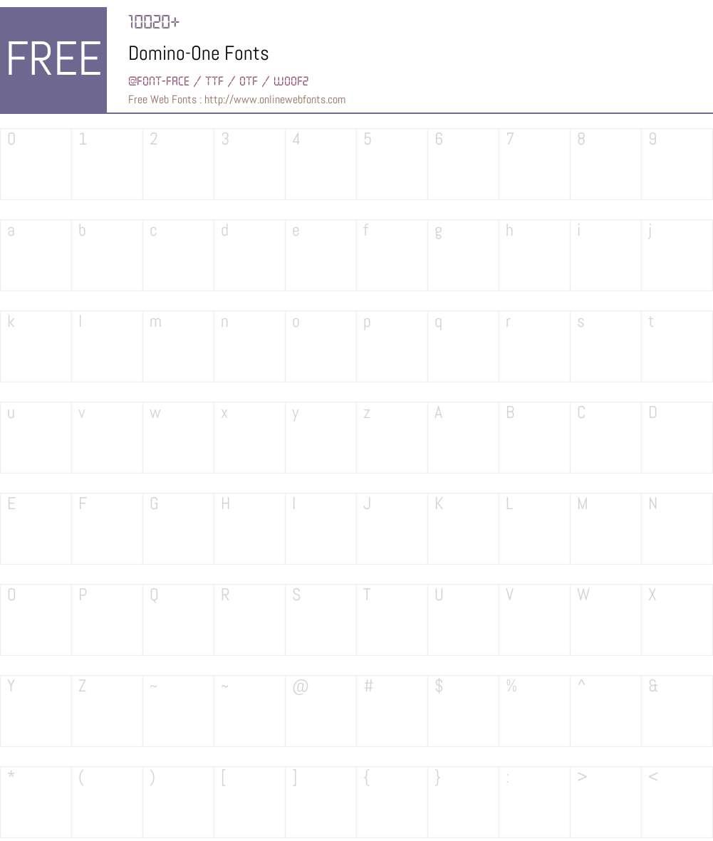 Domino Font Screenshots