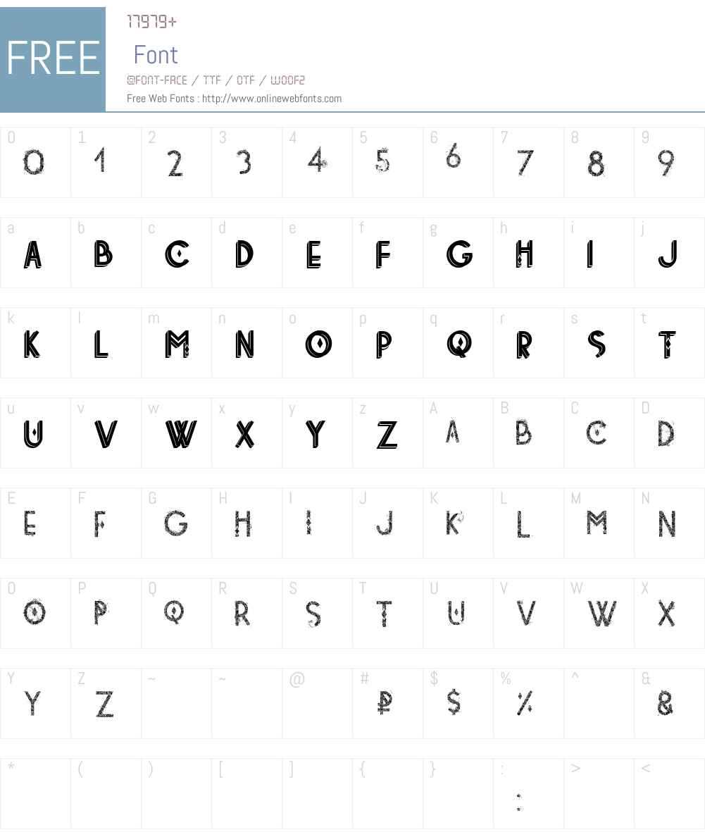 tetradecorative Font Screenshots