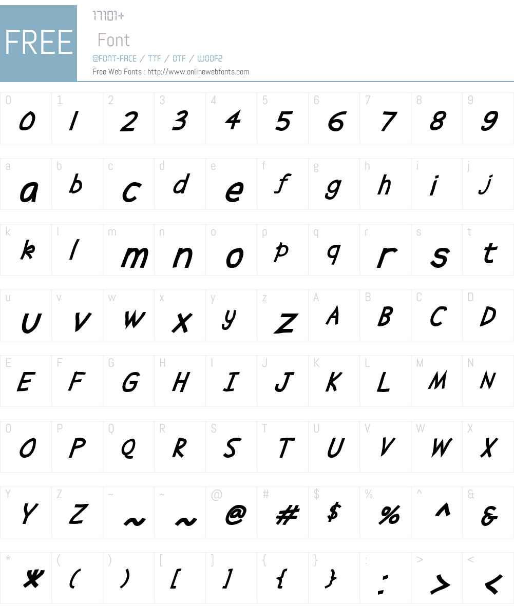 Abscissa Font Screenshots
