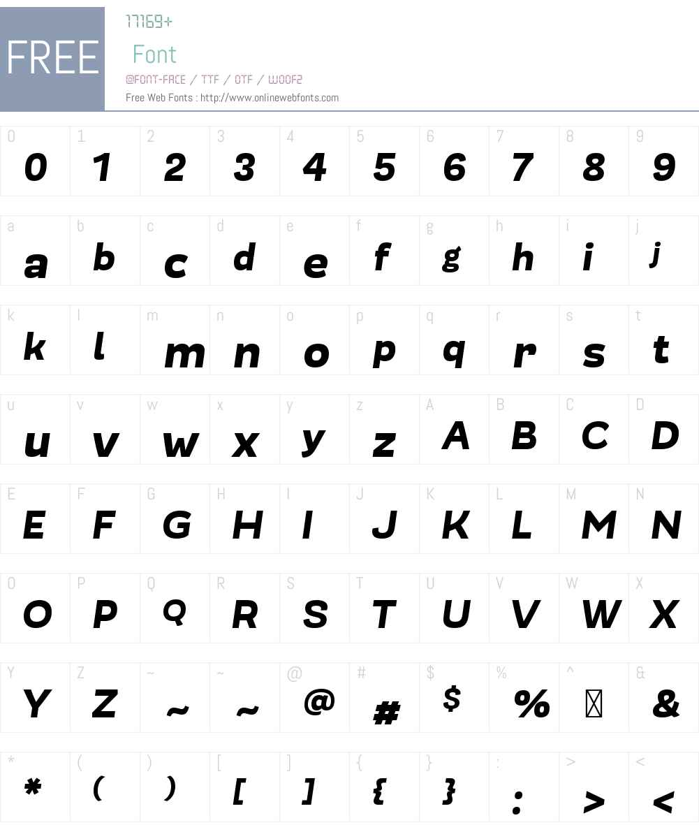 ModernicaW00-HeavyItalic Font Screenshots