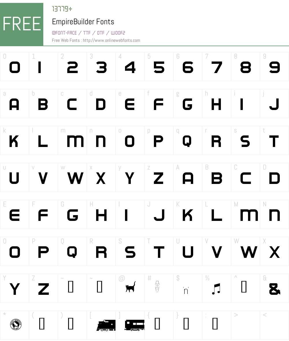 EmpireBuilder Font Screenshots