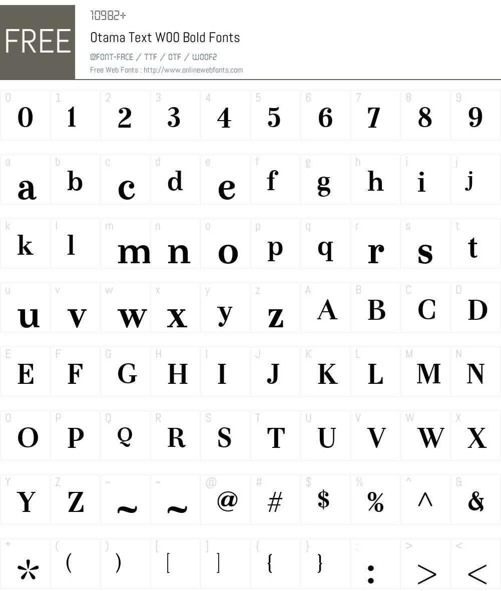 OtamaTextW00-Bold Font Screenshots