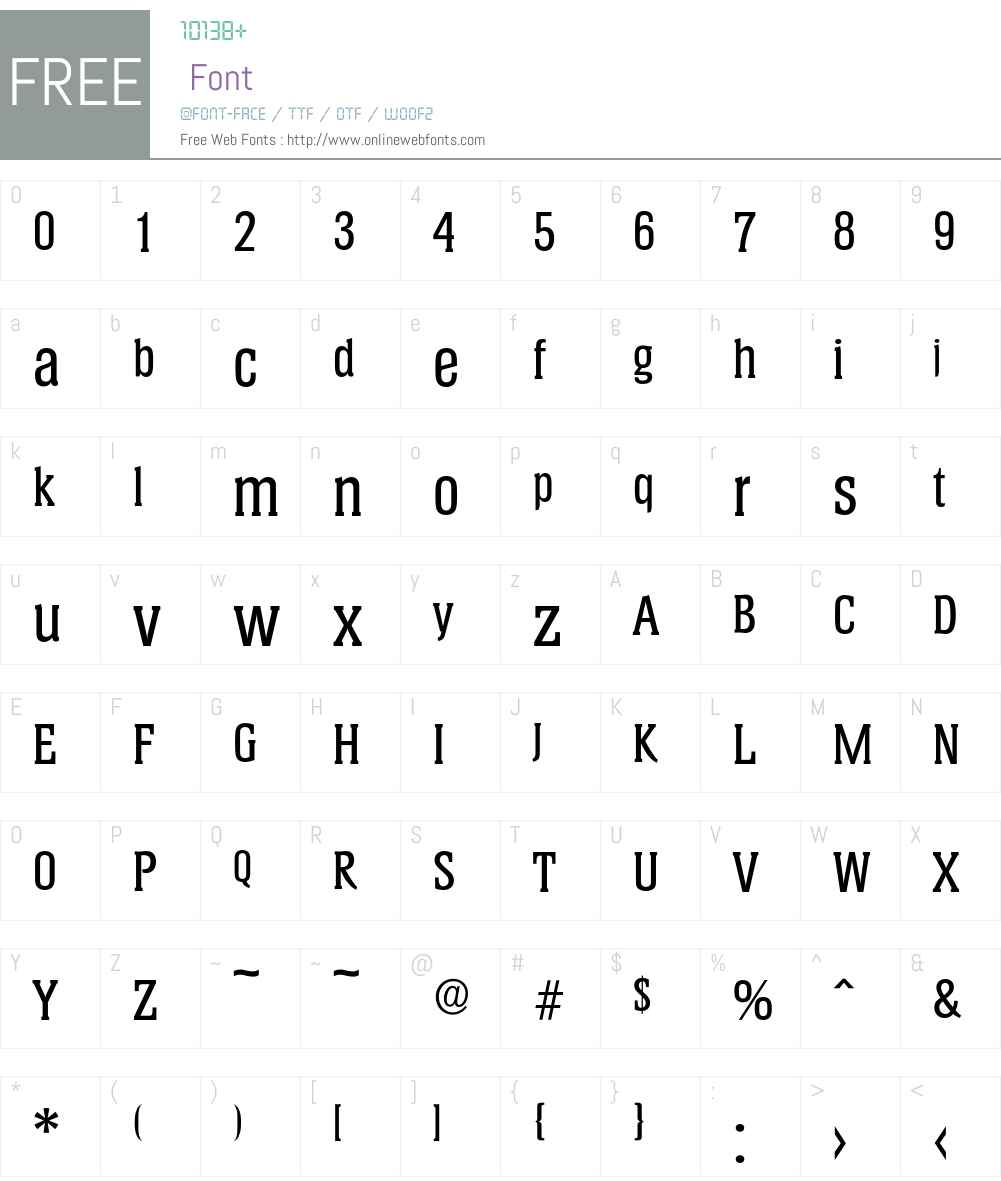 Helium-Medium Font Screenshots