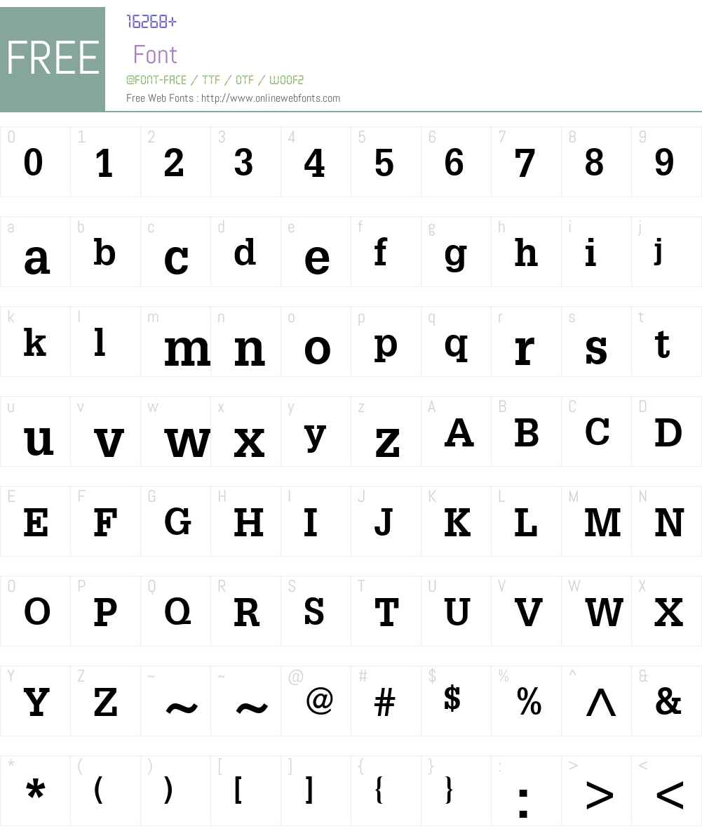 Glypha LT Font Screenshots