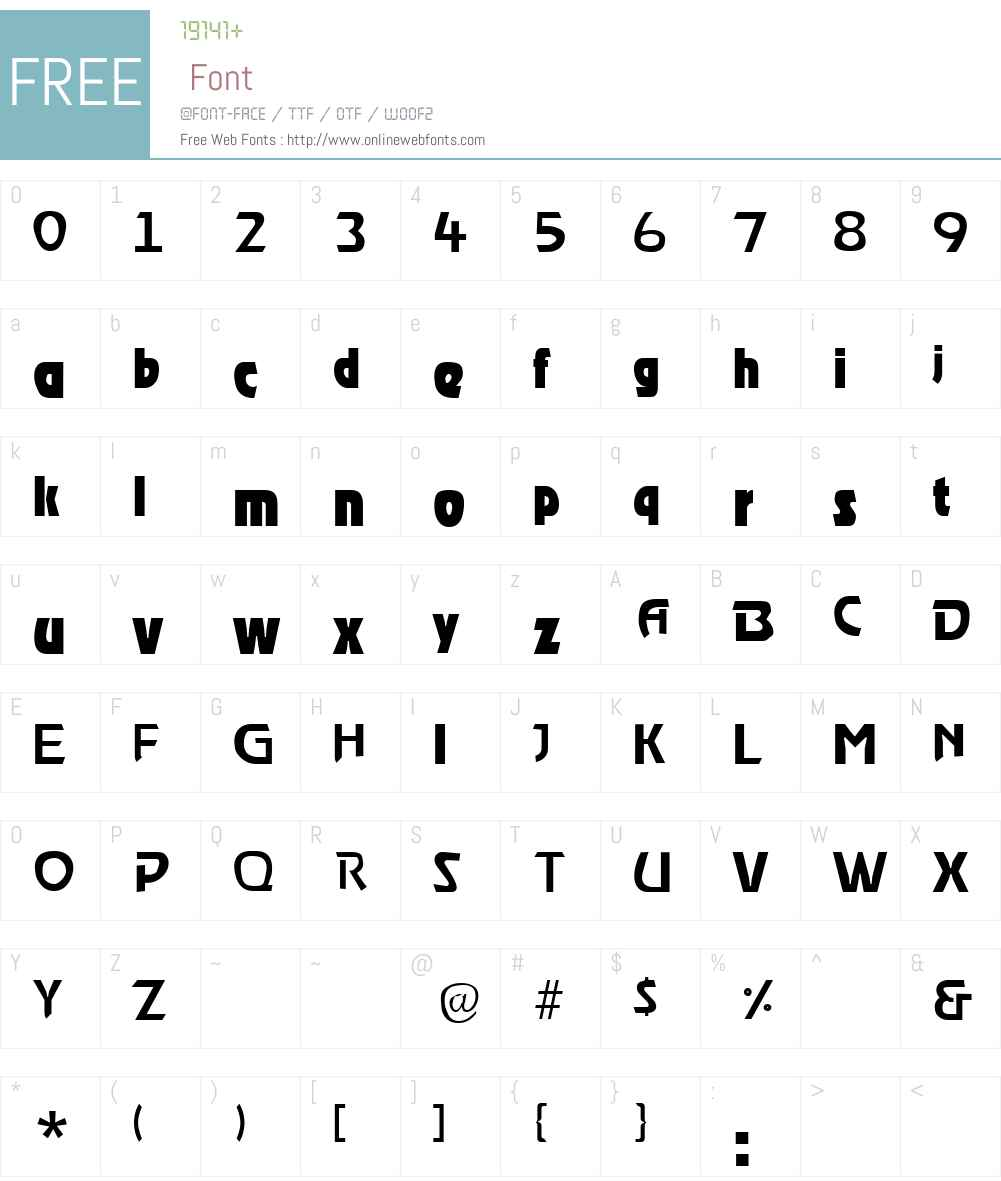 Roost Font Screenshots