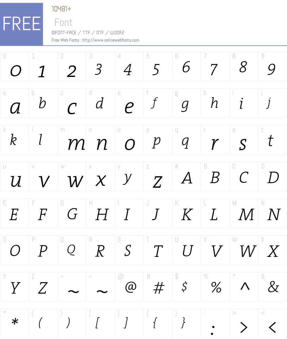 The Serif Light- Font Screenshots