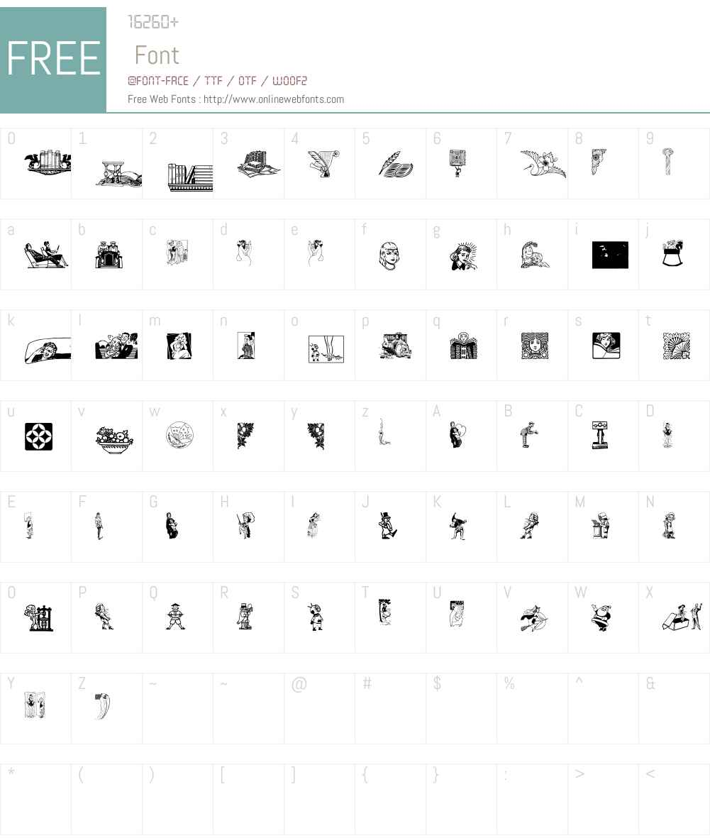 Cornucopia of Dingbats Font Screenshots