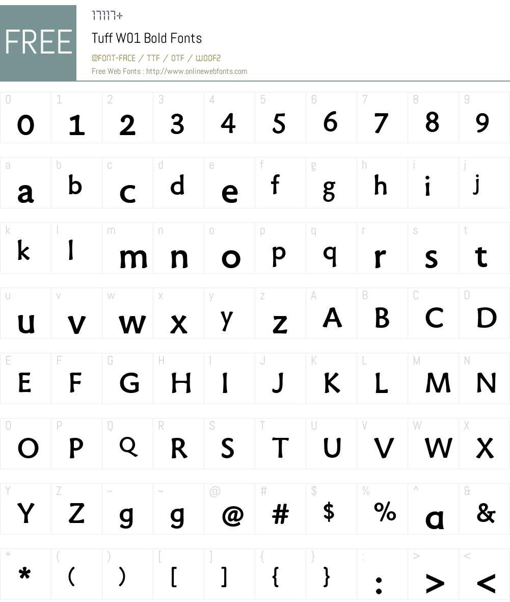 TuffW01-Bold Font Screenshots