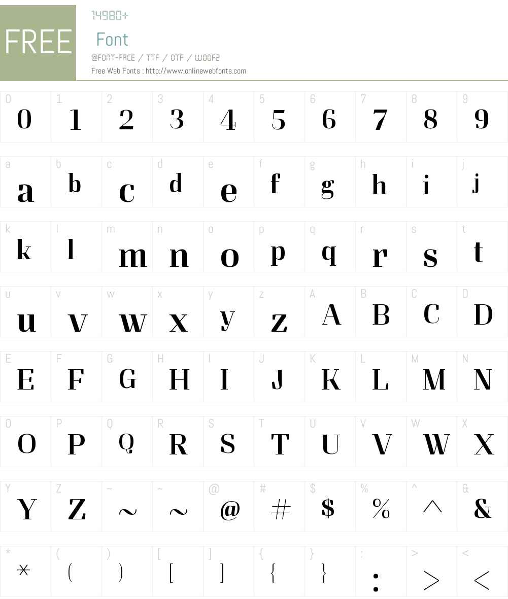 Felis Font Screenshots