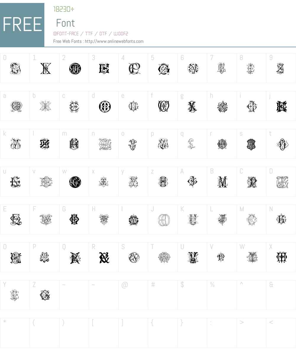 Intellecta Monograms Random Samples Six Font Screenshots