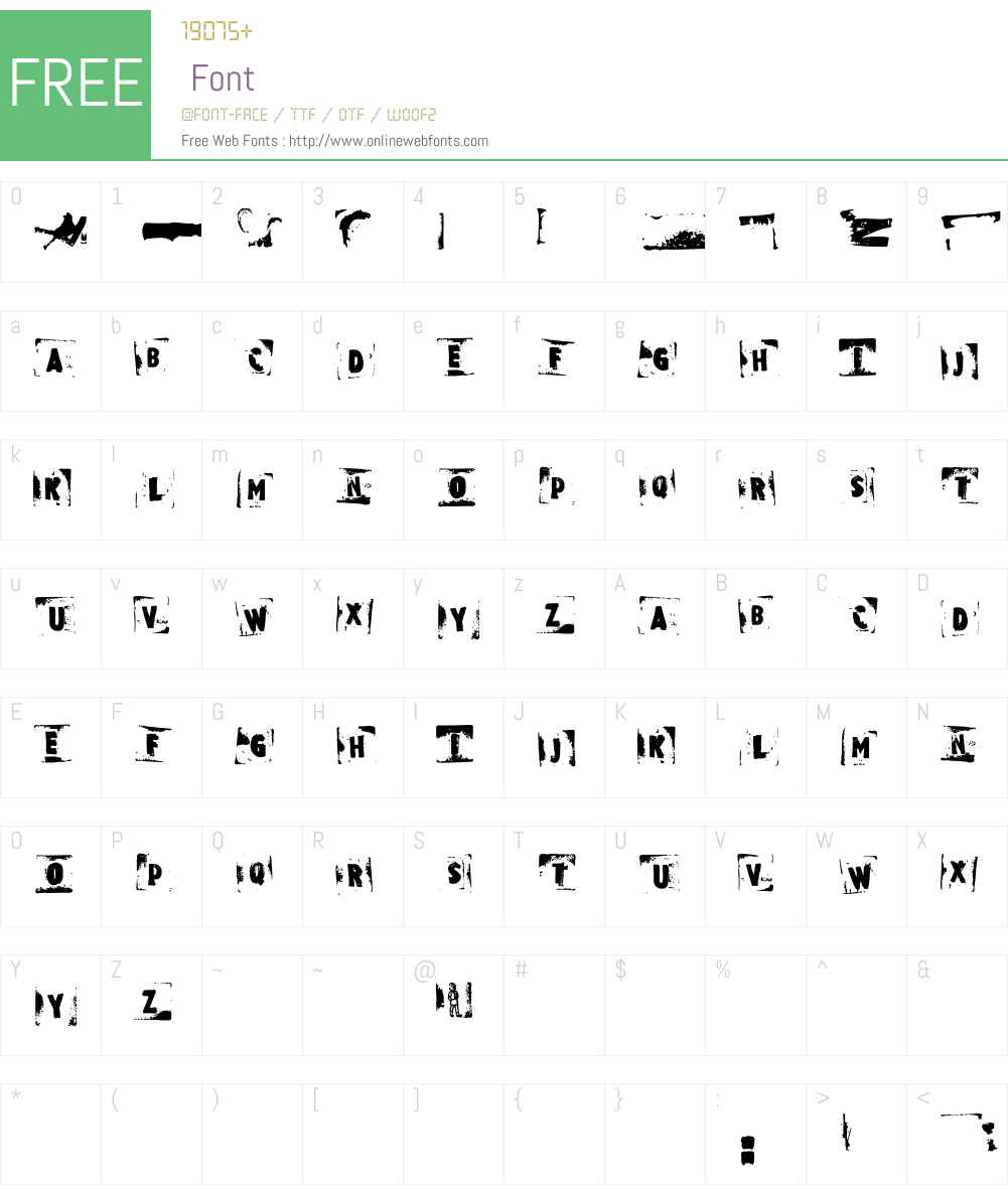 Rubbermaid Font Screenshots