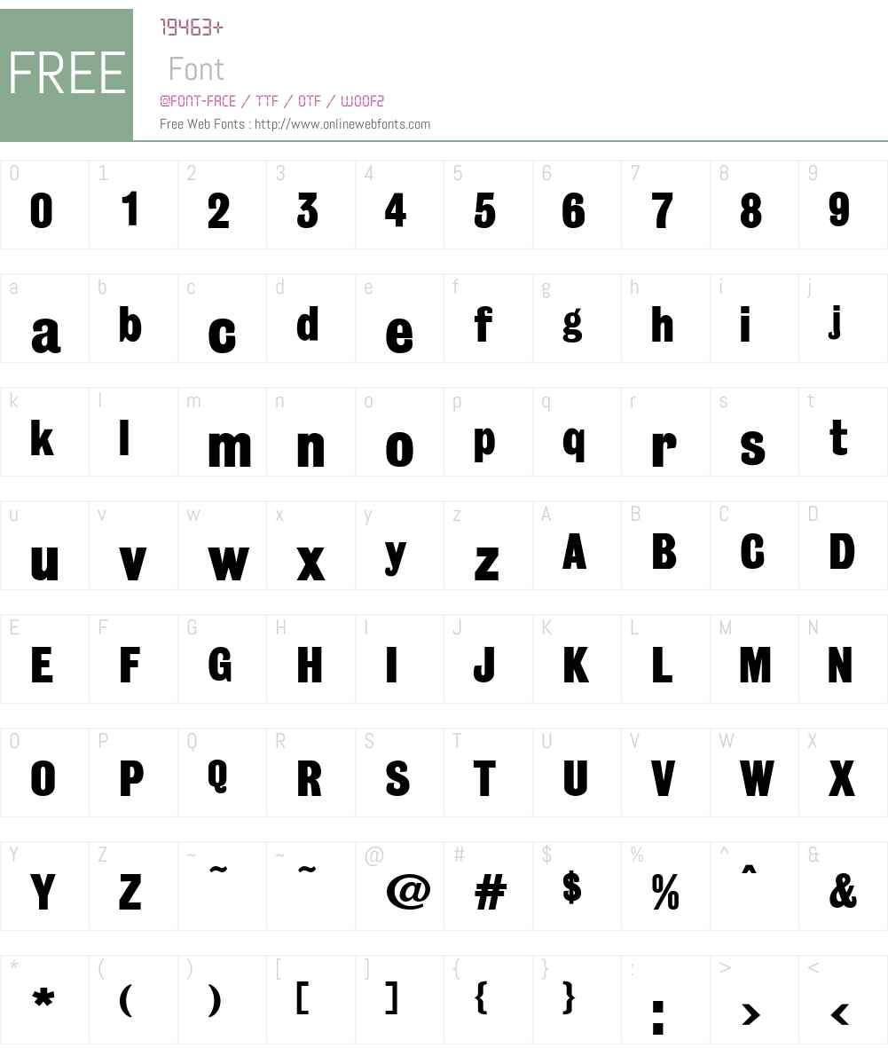 GrotesqueW00-Medium Font Screenshots