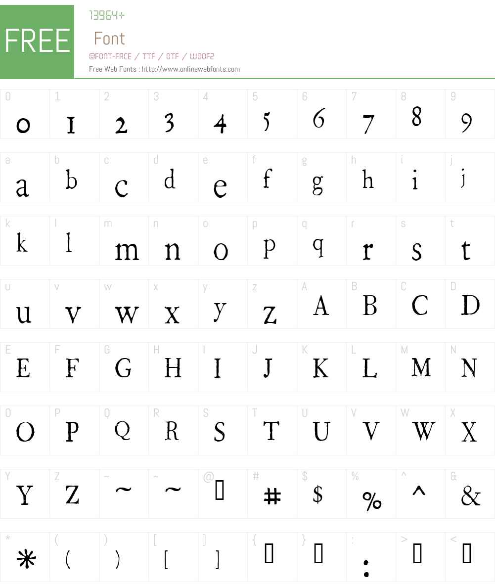 1786 GLC Fournier Narrow Font Screenshots