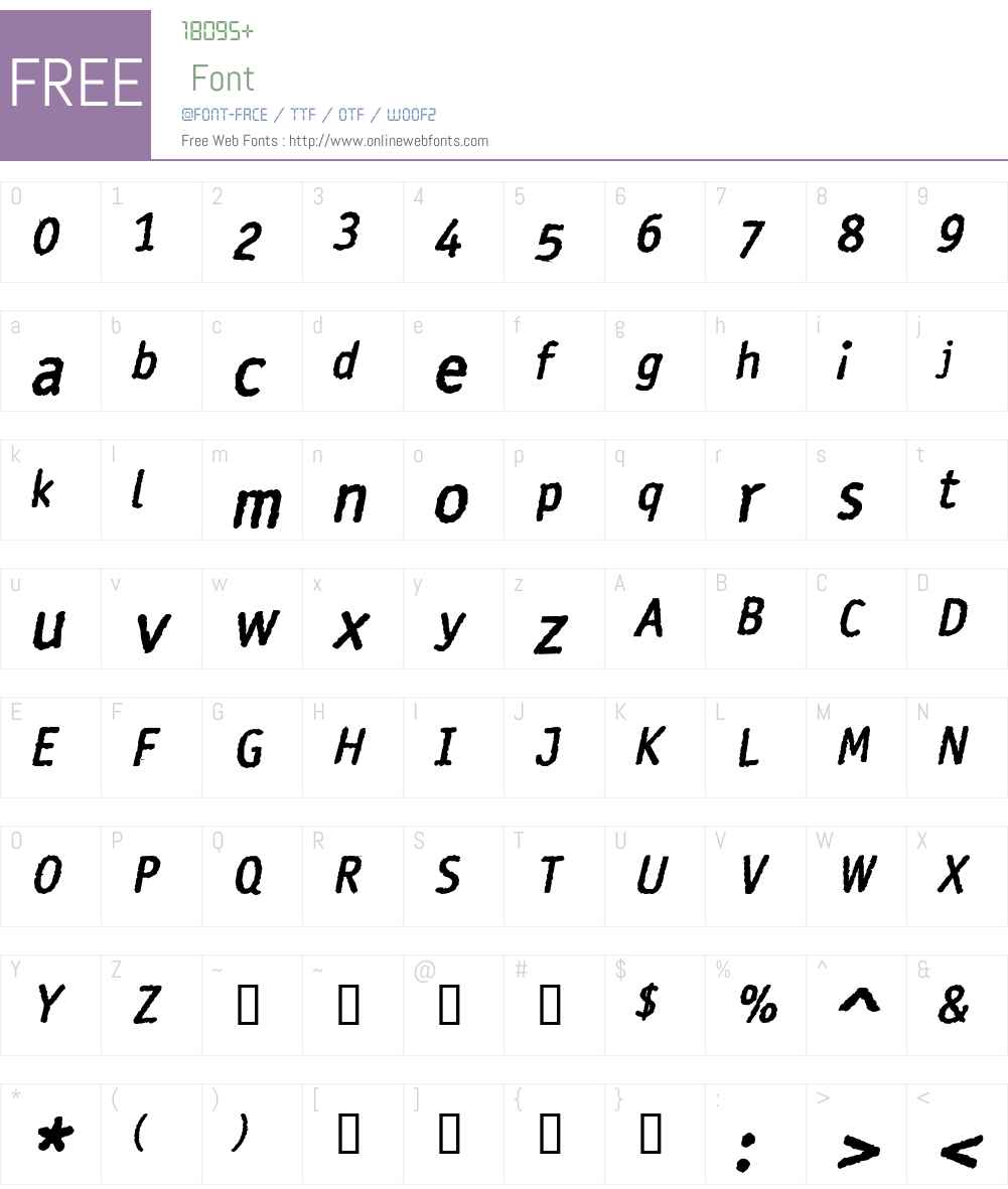 Rosango Font Screenshots