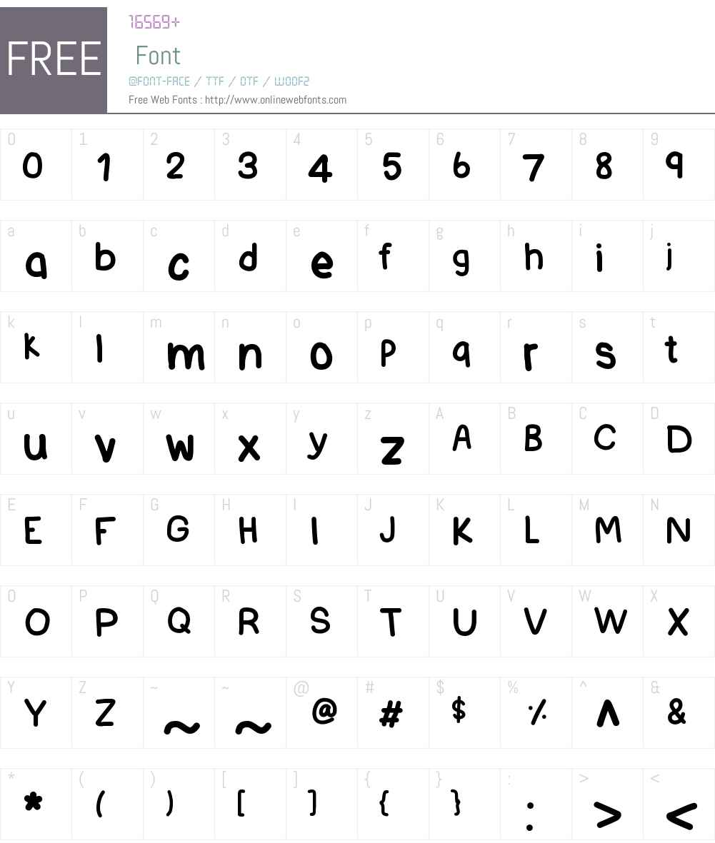 IdWriteItAll Font Screenshots