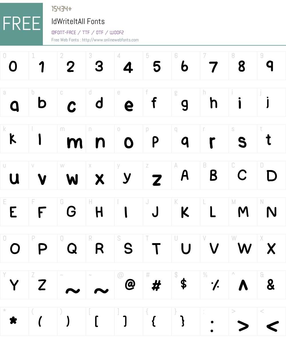 IdWriteItAll Font Screenshots