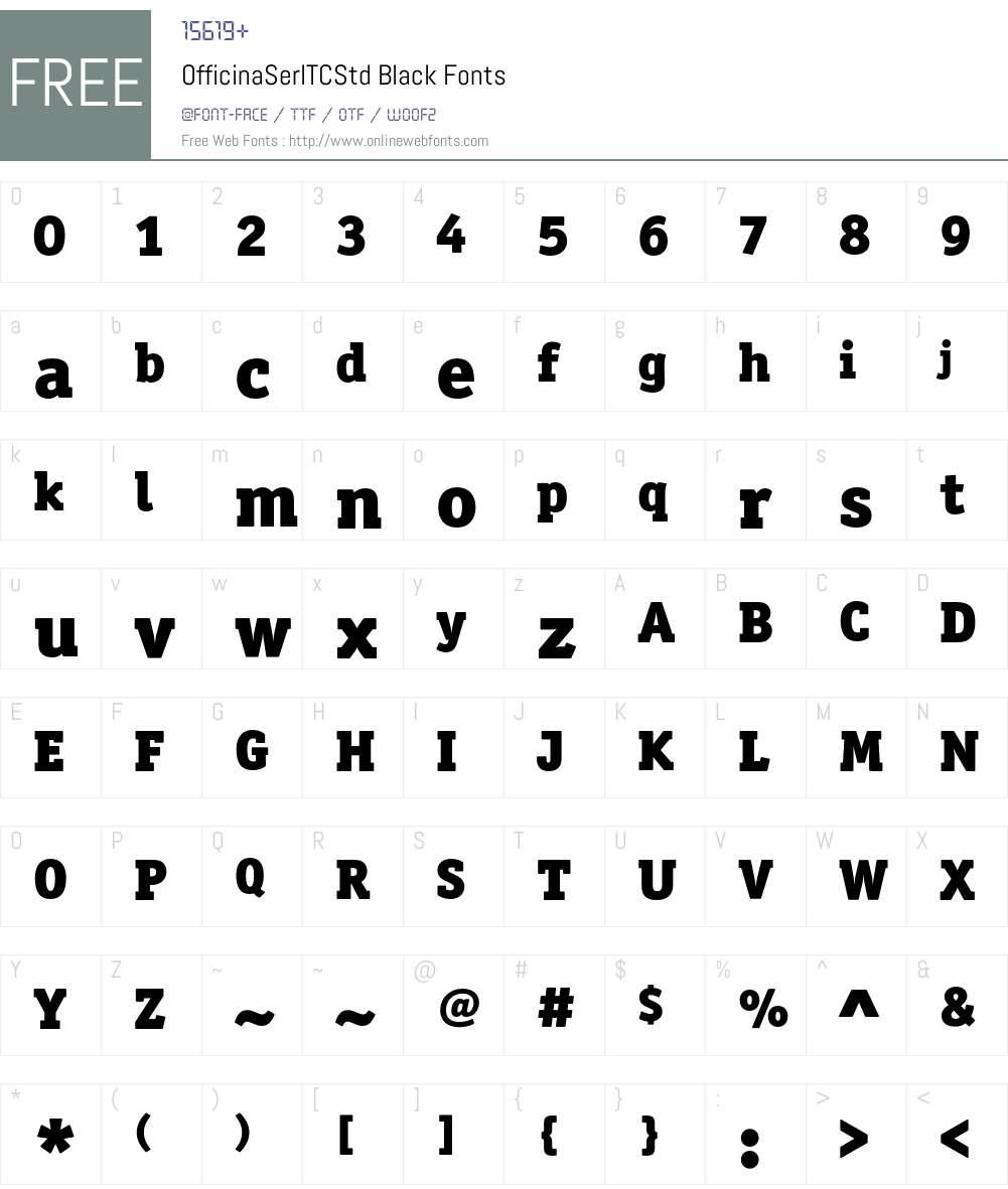 OfficinaSerITCStd Font Screenshots