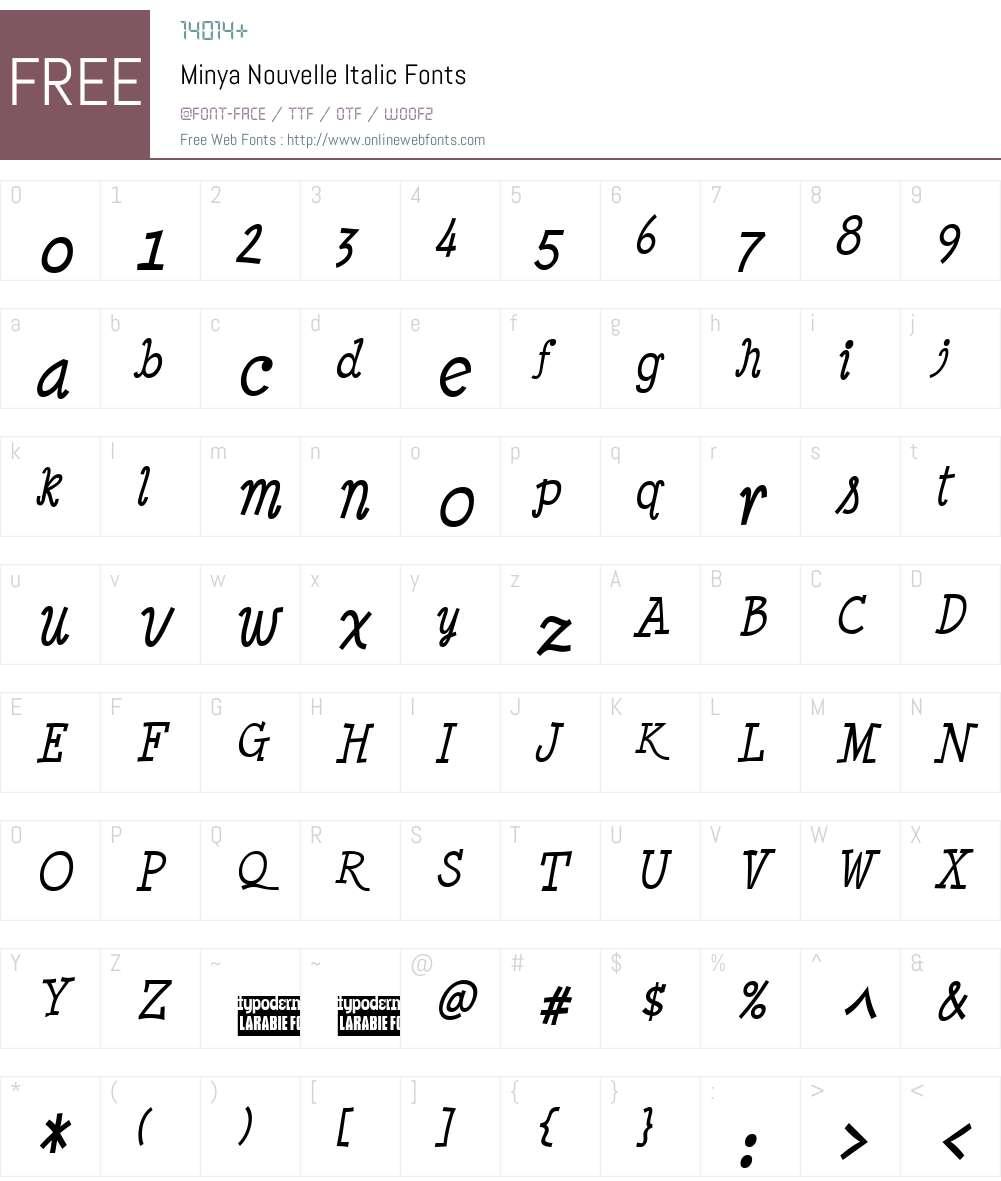 Minya Nouvelle Font Screenshots