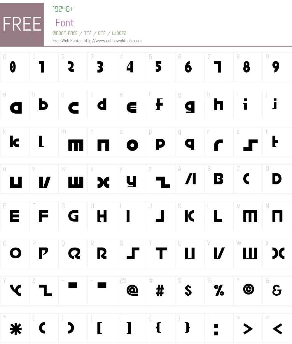 BRIDGEco. Font Screenshots
