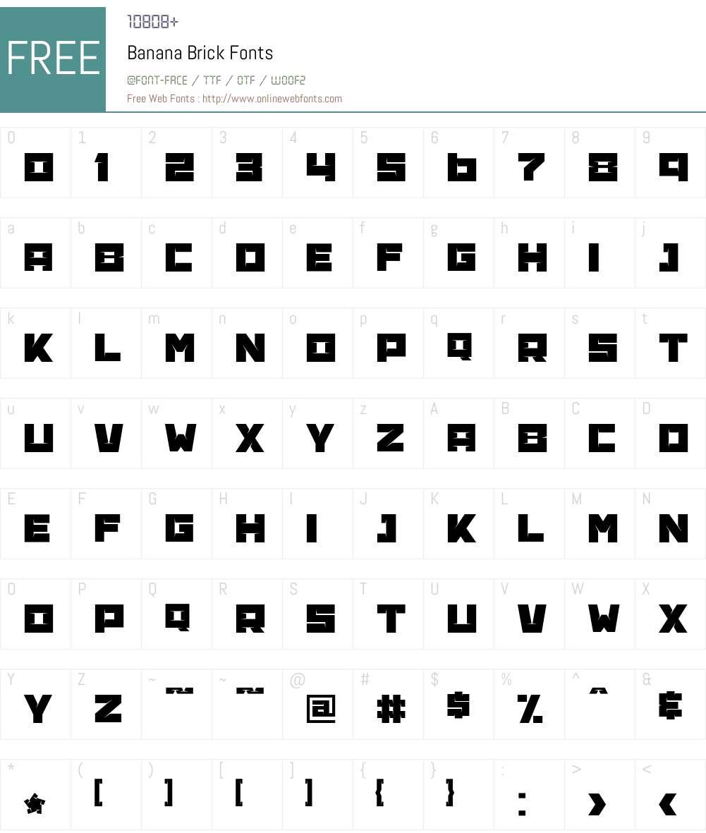 Banana Brick Font Screenshots