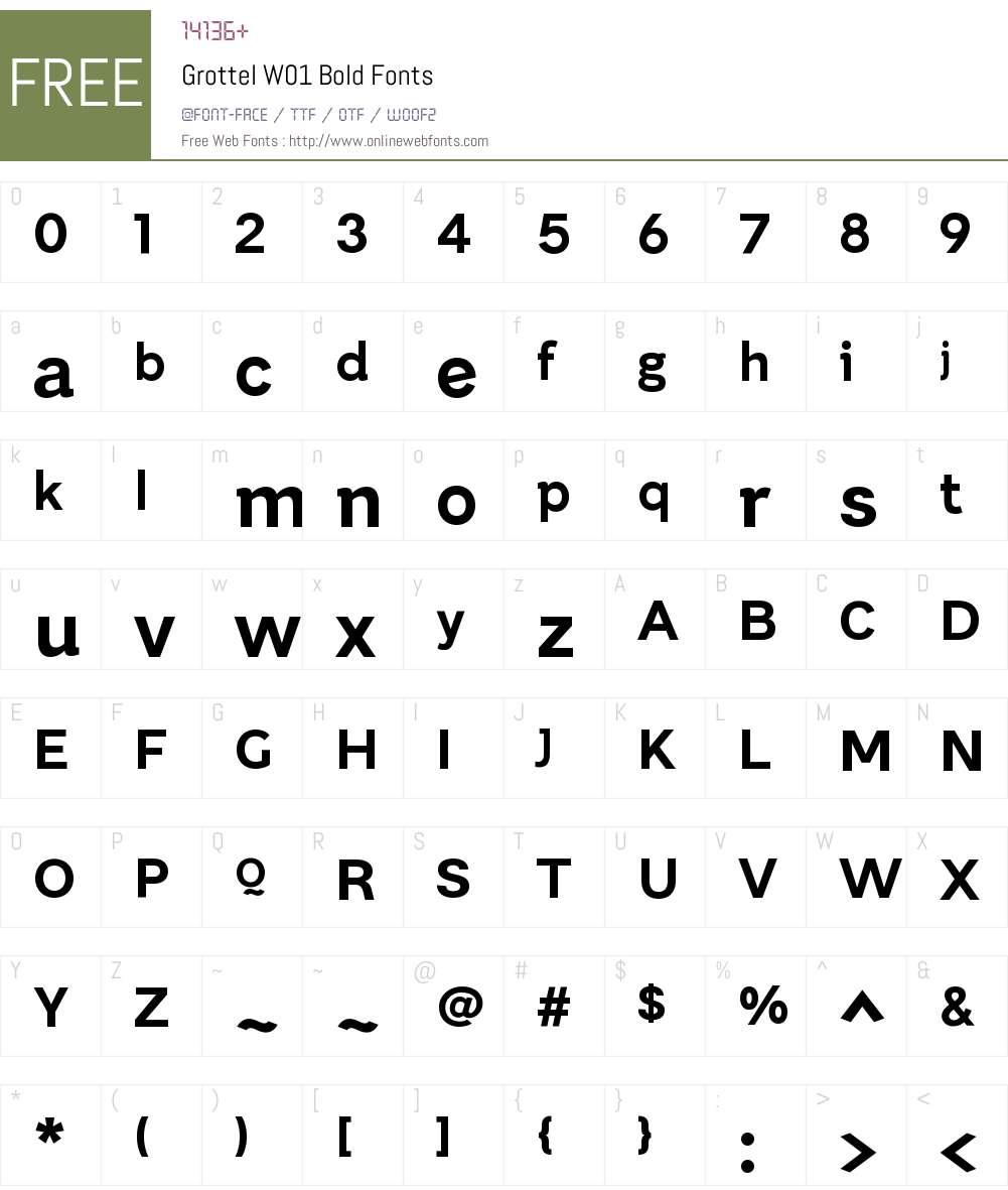 GrottelW01-Bold Font Screenshots