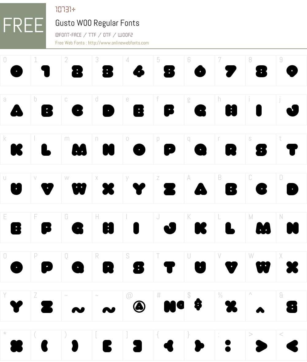 GustoW00-Regular Font Screenshots