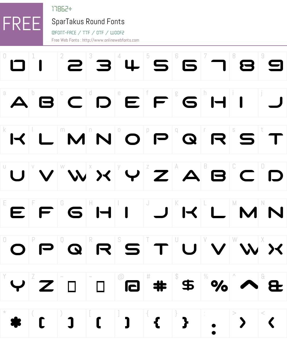 SparTakus Round Font Screenshots