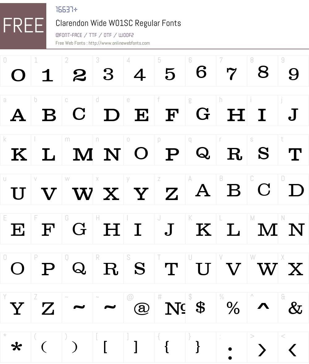 ClarendonWideW01SC-Regular Font Screenshots