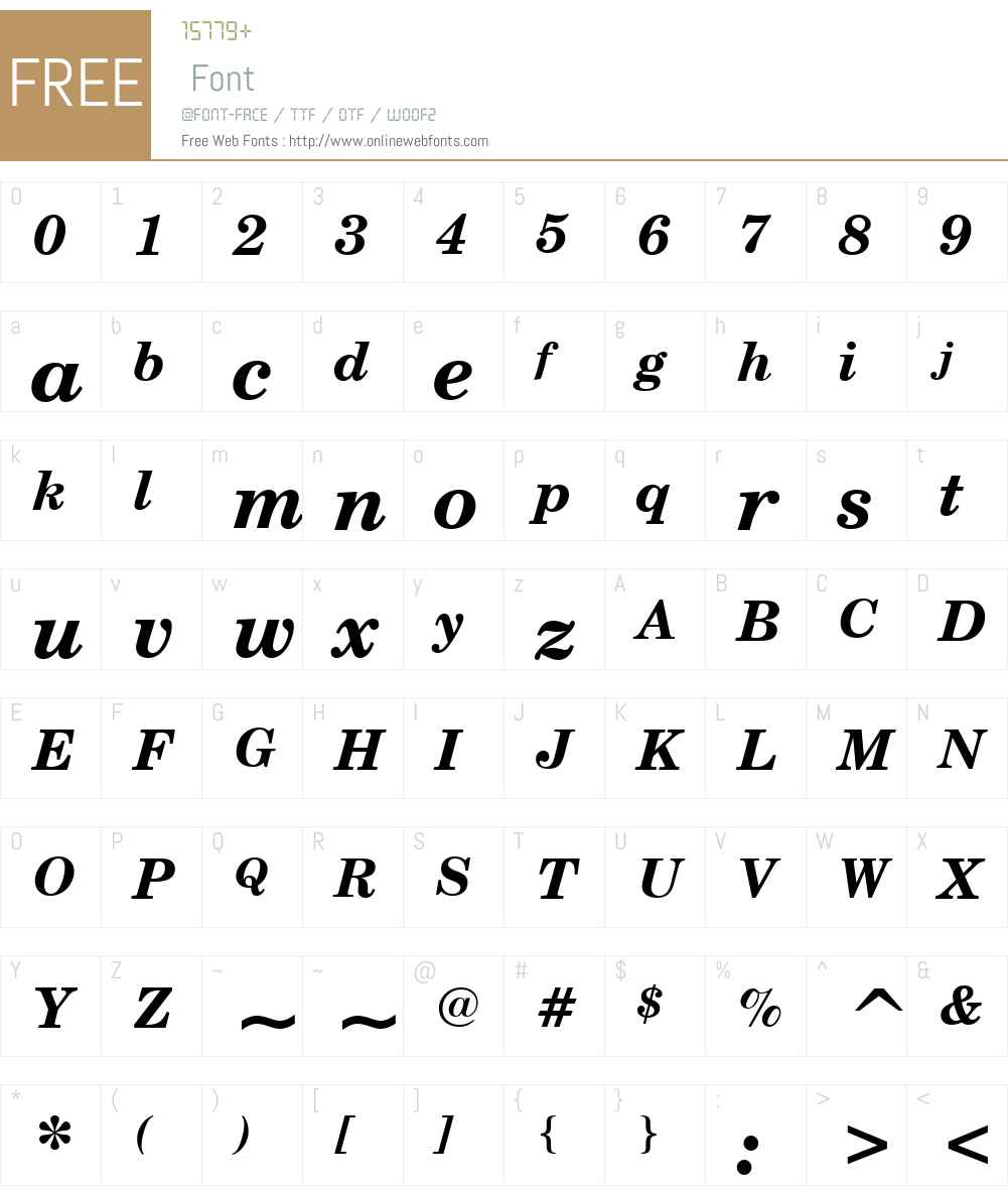 CenturySchoolbookW01-BoldIt Font Screenshots